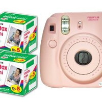 New Model Fuji Instax 8 Color Pink Fujifilm Instax Mini 8 Instant Camera + 100 Films