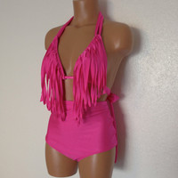 Fringe retro swimsuit by LoveLucyBea on Etsy
