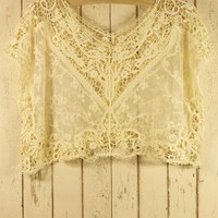 Off-white Sleeveless Top - Sleeveless Cream Crochet Smock with | UsTrendy