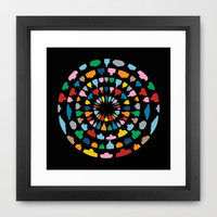 Wine O'Clock Framed Art Print by Project M