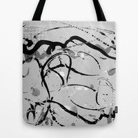 grey play Tote Bag by clemm