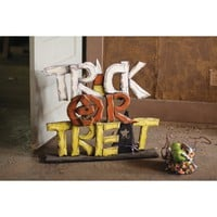 Wooden Trick or Treat Sign - Halloween - Holiday - Paul Michael Company