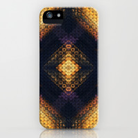 Black & Gold Diamond iPhone & iPod Case by Ally Coxon