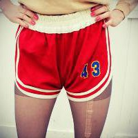 70's Red Athletic Shorts by blackflamingovintage on Etsy