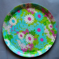 Vintage Flower Power Serving Tray by QuietRainz on Etsy