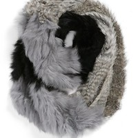 Women's La Fiorentina Genuine Rabbit Fur Infinity Scarf