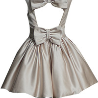 Dress with structured bodice and very full netted skirt
