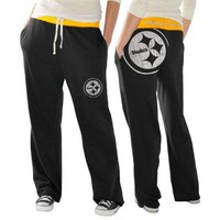 Pittsburgh Steelers Ladies Recruit Fleece Pants - Black