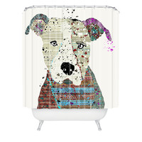 DENY Designs Home Accessories | Brian Buckley Pit Bull Graffiti Shower Curtain