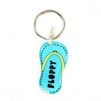 Blue Flip-Flop Shape Pet ID tag - Happy Tags