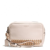 Coach :: LEGACY FLIGHT WRISTLET IN STUDDED LEATHER