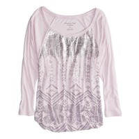 AE Effortless Metallic Dolman T-Shirt | American Eagle Outfitters