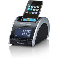 Panasonic iPod/iPhone Compact Clock Radio, AM/FM Radio, Dual Alarm and Clear Vision Sound (Black)