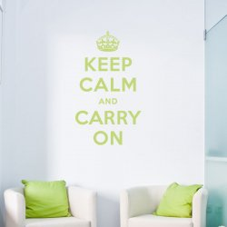Keep Calm and Carry On Wall Quote Decal
