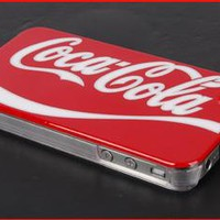 Coca Cola Logo Hard Case Cover for Apple iPhone 4, Topline Gadgets