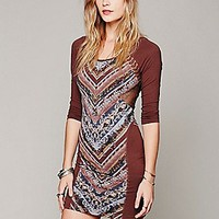Free People Womens Tapestry Print Bodycon -
