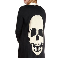 Skull Night Long Cardigan
