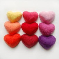 Set of 9 Hearts Felted Love Spell Soaps by SoFino on Etsy