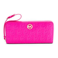 MICHAEL Michael Kors Monogram Embossed Continental Wallet - Michael Kors