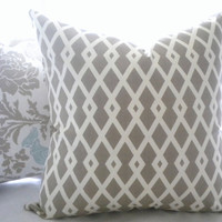 geometric lattice pillow cover Robert Allen Graphic by MicaBlue