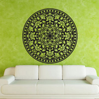 Wall decal decor decals art Buddhism India Indian star Buddha Mandala model  map space Yoga religion sacral image clean earth god (m593)