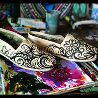 Custom TOMS Hand painted by artist Chelsea Rose by LucidOpticLab