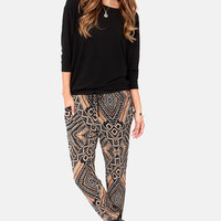 We Had a Tribal Print Cropped Pants