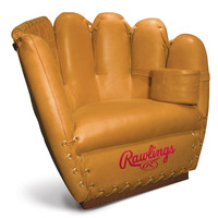 The Authentic Baseball Glove Leather Chair