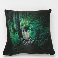 Leah Flores For DENY Let's Run Away Pillow - Urban Outfitters