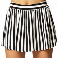 Vertical Striped Skort