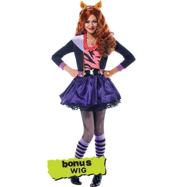 Girls clawdeen wolf costume deluxe from party city things i