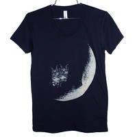 Moon Cats TShirt Select Size by BurgerAndFriends on Etsy