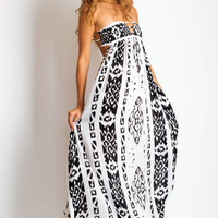 Flamingo maxi dress in Borneo Black