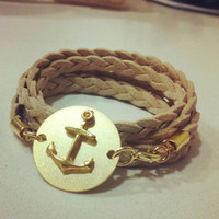 A golden Anchor braclet