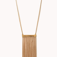Sleek Fringe Necklace