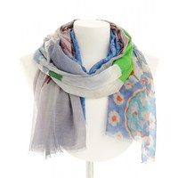 SimonsShoes.com - Echo Design Digital Oversized Flowers Oblong Scarf