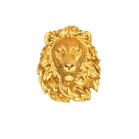 Faux Taxidermied - The Epson - Gold Resin Lion Head- Resin White Faux Taxidermy- Chic & Trendy