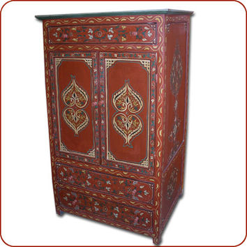 Moroccan handpainted furniture moroccan from for Moroccan hand painted furniture