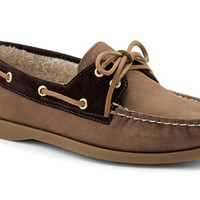 Sperry Top-Sider Women's Cloud Logo Fleece Lined Authentic Original 2-Eye Boat Shoe
