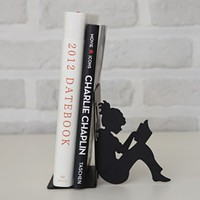 MochiThings.com: Mini Girl Reading a Book Bookend
