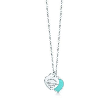 Tiffany Blue Heart Pendant Necklace