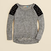 Vintage Havana Girls' Stud Shoulder Sweatshirt - Sizes S-XL | Bloomingdale's