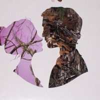 Pink Camo WIFE & Camo HUSBAND KISS FULL COLOR Window Decal Decals Real Tree Stickers Mossy Oak Sticker Tailgate or Wall