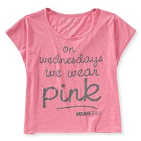Pink Boxy Graphic T