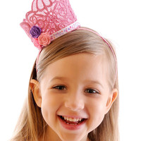 Bubble Gum Princess Mini Lace Crown | Luulla