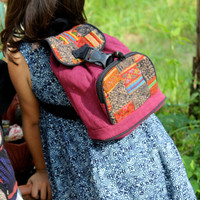 Little Girls Hmong Backpack Embroidery And Batik Patchwork Kids Bag