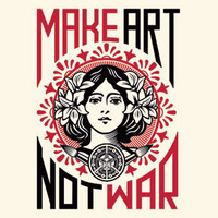 Make Art Not War Organic T-Shirt