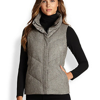 Eileen Fisher - Tweed Puffer Vest