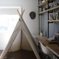 6 ft Fold Away Canvas Teepee by houseinhabit on Etsy