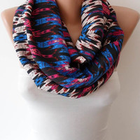 Multicolor Infinity Scarf - Eternity Scarf - Loop - Cowl